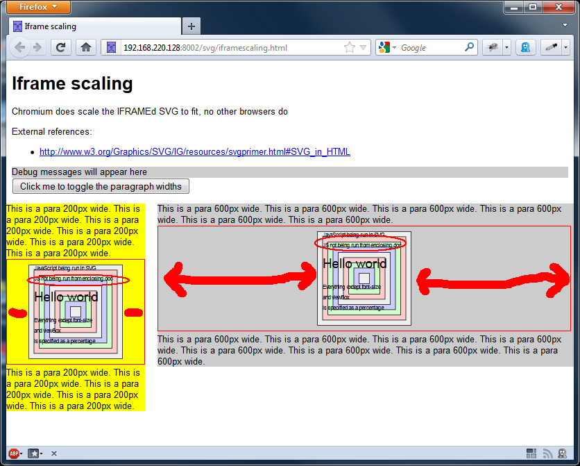 Screengrab of SVGs using the iframe tag in Firefox 10