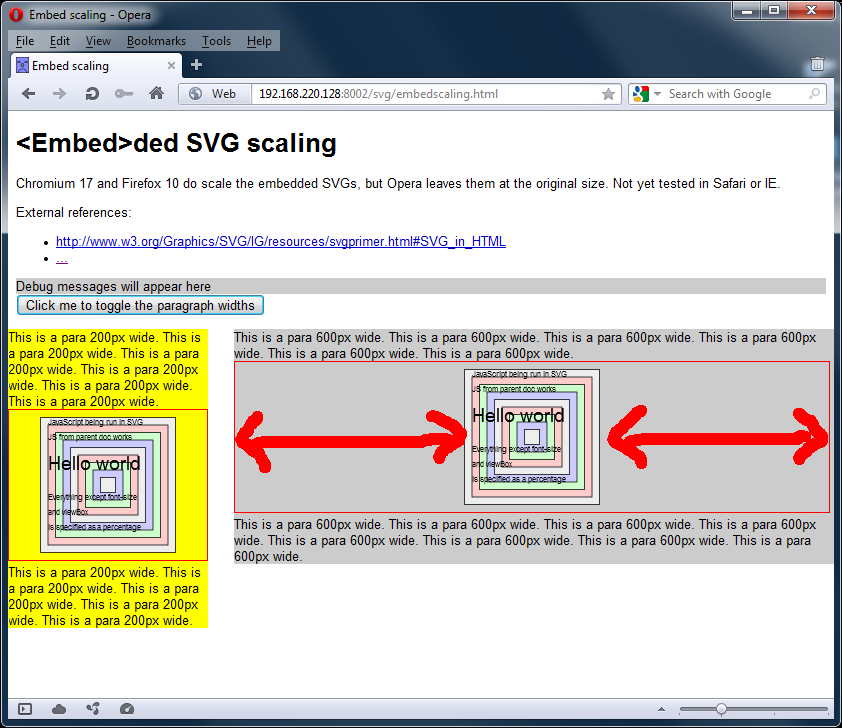 Screengrab of SVGs using the embed tag in Opera 11.62