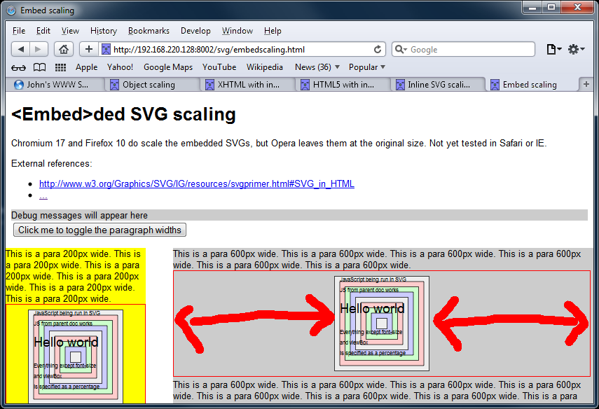 Screengrab of SVGs using the embed tag in Safari 5.1